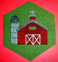 Stitch Society Wool Hexagon barn