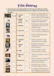 English worksheet: Film Genres