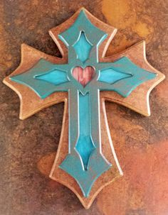 Stained Glass Cross With Light Kit by ChristianArtisanCrea on Etsy