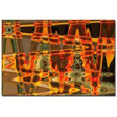 """Trademark Fine Art Martha Guerra 'Sunflowers Abstract' 16"""" x 24"""" Canvas Art"""