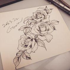 아직은 타블렛으로 그리면 너무 오래걸려서...날잡고 공부좀 해야겠습니다. #rose#rosedrawing#linedrawing#tattoo_grain#rosesketch#rosedesign#flower#flowerdrawing#flowersketch#장미#장미스케치#장미라인드로잉#그림#장미그림