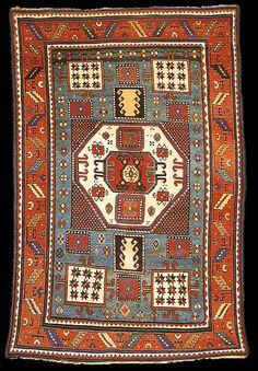 Caucasus, Karachop carpet  Jellegzetes 8szög minta