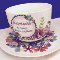 #Hrnek na #cappuccino s podšálkem #BotanicalGarden #mug