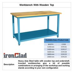 Workbench With Wooden Top