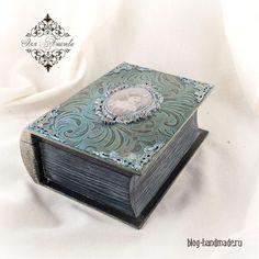 TUTORIAL------Пошаговый фото мастер класс по декупажу шкатулки книги для украшения интерьера своими руками