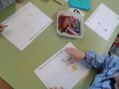 Racons d'aprenentatge matemàtic: els daus d'atributs Math, School, Ideas, Blue Prints, Preschool Classroom, Toy Block, Math Resources, Schools