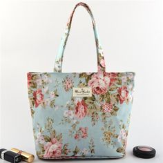 Casual Stylish Flower Pattern Tote Handbag Shoulder Bags For Women... (3 842 615 SEK) ❤ liked on Polyvore featuring bags, handbags, tote purses, shoulder bag purse, floral purse, floral tote bag and tote bag purse