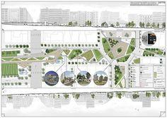 Agias Sofias Competition Board 03 by Alex Vandoros Landscape Design Plans, Landscape Architecture Design, Architecture Board, Architecture Portfolio, Urban Landscape, Architecture Diagrams, China Architecture, School Architecture, Architectural Presentation