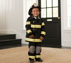 this year's inspiration....using butterick pattern...but can't find the buckles anywhere!!  any ideas?!?!? | Firefighter Costume | Pottery Barn Kids