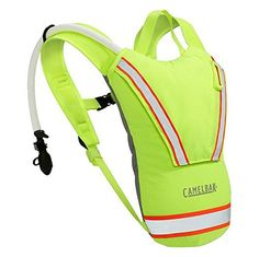 Camelbak Hi-Viz Antidote Hydration Backpack Lime Green 62599. Double-insulated carrier helps keep water cool. Integrated cover keeps antidote access port clean and protected. Convenient stow pocket holds keys and other essentials. Tear-away harness helps prevent accidents. Reflective strips for low light visibility.