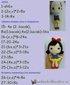 Amigurumi Prinzessin Making - Emre Crochet Gifts, Crochet Toys, Crochet Baby, Crochet Amigurumi Free Patterns, Crochet Doll Pattern, Bikini Crochet, Yarn Dolls, Lol Dolls, Amigurumi Doll