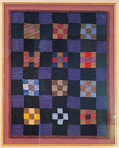 Amish nine patch quilt