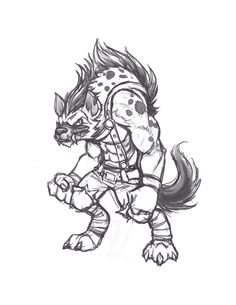 Gnoll conept 01 by Knockwurst.deviantart.com on @DeviantArt