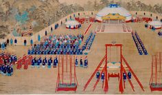 """Giuseppe CASTIGLIONE """"Imperial Banquet in the Garden of Ten Thousand Trees"""", Qing dynasty, Qianlong period 1755, colored inks on silk, 221.5 x 419.0 cm. The Palace Museum, Beijing Opening this March is an exhibition of some 120 pieces from the Palace Museum in Beijing, on display in Melbourne for the first time at the National Gallery of Victoria (NGV). """"The Golden Age of China: Qianlong Emperor (r. 1736—1795)"""" offers viewers a glimpse into the storied life of China's pre-eminent art…"""