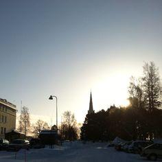 March morning, Joensuu Church.