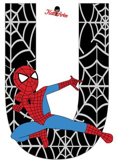 Oh my Alfabetos!: Alfabeto de Spiderman con Fondo Negro. Spiderman Theme, Black Spiderman, Spiderman Stickers, Butterfly Birthday Party, Superhero Birthday Party, Superhero Classroom, Banner Letters, Embroidery Letters, Christmas Frames