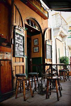 Bar in Rabat, at Gozo island (Malta)