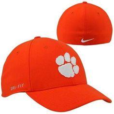 reputable site b2db4 d0923 Nike Clemson Tigers Dri-FIT Swoosh Flex Hat - Orange