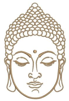 Buddha face close-up machine embroidery design Art Buddha, Buddha Drawing, Buddha Face, Hamsa Drawing, Mandala Art, Pencil Art Drawings, Art Drawings Sketches, Budha Painting, Art Quilling