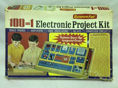 Vintage 100 in 1 Electronic Project Kit from Science Fair Tandy Corp. No. 28-220 #Tandy