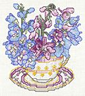 July- Delphinium. Vermillion Stitchery's Gift to All Stitchers! Chicken Cross Stitch, Cross Stitch Love, Cross Stitch Needles, Cross Stitch Flowers, Christmas Embroidery Patterns, Embroidery Art, Cross Stitch Embroidery, Cross Stitch Patterns, Cross Stitch Freebies