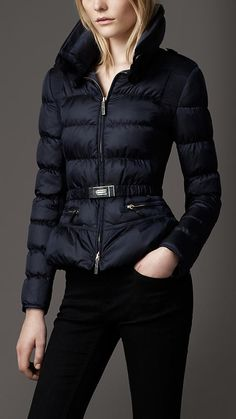 Belted Quilted Jacket | Burberry $995 with fur trim