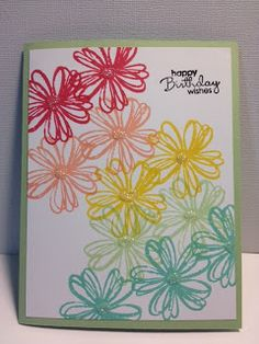 Flower Shop Birthday Card Stampin' Up! Making Greeting Cards, Greeting Cards Handmade, Stamping Up Cards, Rubber Stamping, Flower Cards, Gift Flowers, Flower Stamp, Happy Birthday Cards, Paper Cards