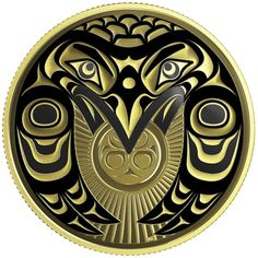 Gold Coin - Raven Brings the Light - Mintage: Native Art, Native American Art, Coin Store, Canadian Coins, Gold And Silver Coins, Native Design, Rabe, Mint, Pennies