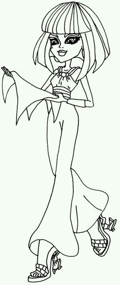 Cleo De Nile Monster High Coloring Pages