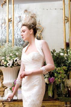 jillian sposa 2014 convertible wedding dress style 95815 long sleeve jacket