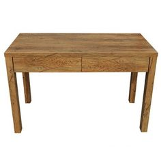 Faith - Writing Desk - Antique Oak  Milan Direct