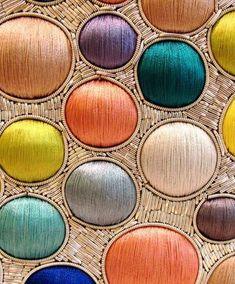 Wow! Satin stitch and metal threads!