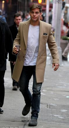 Dapper: Chris Pine was spotted looking casual cool as he headed to an appearance on Good M...
