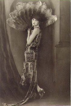 Early 1920s portrait with fan