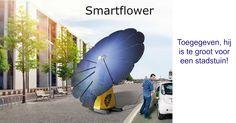 De smartflower levert 40% meer zonne energie omdat de panelen zich steeds richten naar de zon. Je moet wel een grote tuin hebben. Qua grootte en qua prijs geschikt voor bedrijven. Doordat de instelling mobiel is, is de Smartflower ook geschikt voor evenementen. Hier vind je meer informatie http://houhetwarm.nl/smartflower-nederland-voor-draaiende-zonnepanelen/