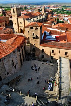 Plaza de San Jorge en la Ciudad Monumental de Cáceres, patrimonio de la humanidad. Cáceres. Extremadura. España