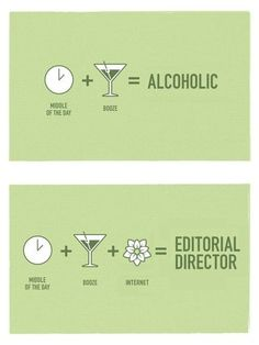 The Difference Between An Alcoholic And AN Editorial Director - Internet (Image: http://favim.com/image/31872/)