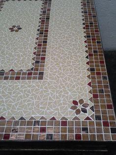 tampo de mesa retangular em mosaico - Pesquisa Google