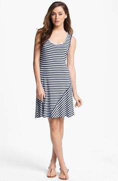 Calvin Klein Stripe Tank Dress available at #Nordstrom
