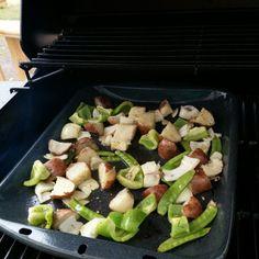 Filet de Sol sur BBQ - Légumes d'accompagnements - www.bbqpravda.co.vu