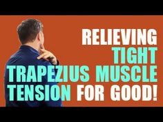 The Best Ways to Relax a Tight Trapezius Muscle : Stretching & Yoga for Health Shoulder Pain Relief, Neck And Shoulder Pain, Shoulder Muscles, Neck And Back Pain, Neck Pain, Shoulder Joint, Shoulder Rehab, Psoas Muscle, Muscle Pain