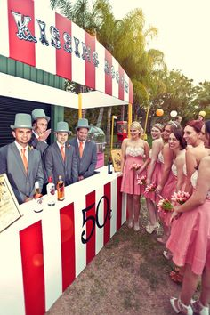 Vintage Kissing Booth / Bar - Perfect for theme circus weddings events parties