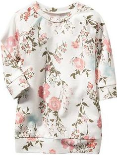 Floral Sweatshirt Dresses for Baby   Old Navy