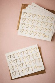 Heart of Gold Thank You Cards (8)