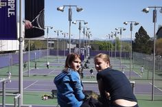 Watching a Husky tennis match on the purple courts! Go Dawgs! #youW Photo by  Marie Gregoire