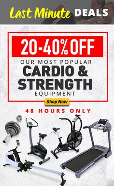 cab1095a191d Bargain - 20-40% OFF - Last Minute Cardio & Strength Deals @ Number One  Fitness