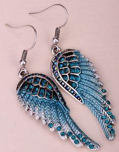 Angel Wings Dangle Earrings (12 Colors)