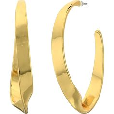 LAUREN Ralph Lauren Retro Links Large Twisted Hoop Earrings (Gold)... ($20) ❤ liked on Polyvore featuring jewelry, earrings, gold, gold jewellery, gold jewelry, gold earrings, sparkly earrings and earrings jewelry