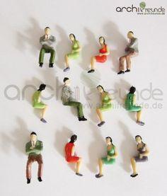 25 x Sitzende Figuren für Modellbau 1:50, Modelleisenbahn Spur 0: Amazon.de: Spielzeug