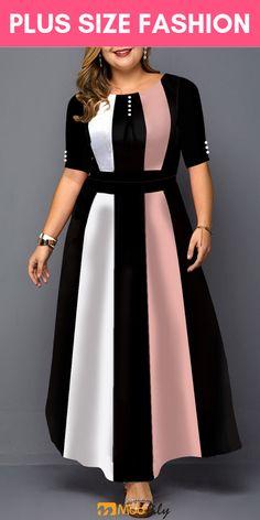 plus size dress Evening Dresses Plus Size, Plus Size Dresses, Plus Size Outfits, African Print Fashion, African Fashion Dresses, Modest Fashion, Fashion Outfits, Look Plus Size, Curvy Outfits
